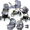 Cosatto Giggle Quad Pram and Pushchair + FREE Hold Car Seat & Adaptors, Seedling