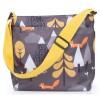 Cosatto Yay Woosh Compact Stroller + Footmuff & Changing Bag, Charcoal Fox Tale