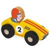 Janod Story Racing Racer Wooden Car ~ Yellow