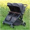 Roma Gemini Double Twin Stroller, Black