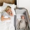 Tutti Bambini CoZee Bedside Crib - Oak & Charcoal