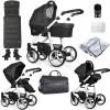Venicci Soft 3 in 1 Travel System Bundle, White Chassis / Denim Black