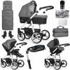 Venicci Soft 3 in 1 Travel System Bundle + Isofix Base, White Chassis / Denim Grey